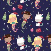 AW17 Unicorn and mermaid Xmas aop ©Daydreams and Ice Creams